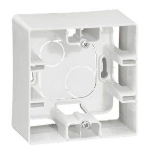 Boîtiers apparent -Niloé cadre saillie 1P blanc 40x20mm vertical / horizontal