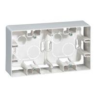 Boîtiers apparent -Niloé cadre saillie 2P blanc 159,5x88,5mm vertical / horizontal