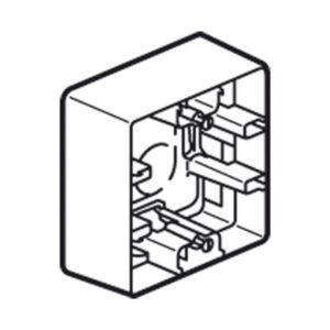 Boîtiers apparent -Niloé cadre saillie 1P crème 40x20mm vertical / horizontal