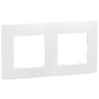Plaques de recouvrement -Niloé plaque double blanc entraxe 71mm vertical / horizontal