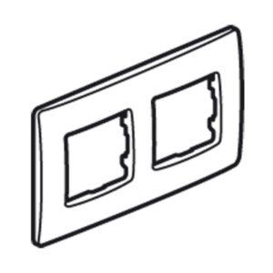 Plaques de recouvrement -Niloé plaque double crème entraxe 71mm vertical / horizontal