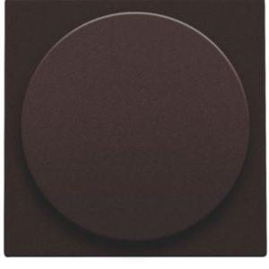 Plaques centrales -Plaque centrale pour variateur à bouton rotatif universel, dark brown