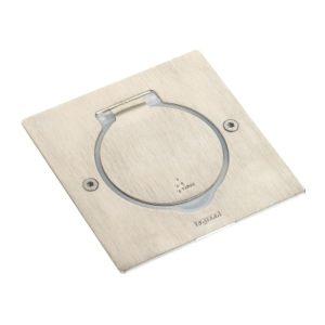 Plaques de recouvrement -Réceptacle prise de sol carré Inox pour fonctions Mosaic
