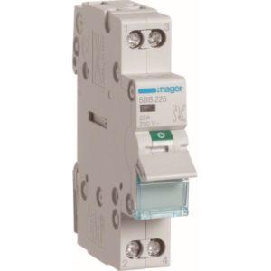 Interrupteurs modulaires -Interrupteur modulaire 2 pôles 25A à voyant
