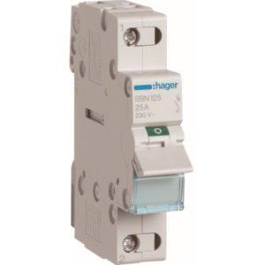 Interrupteurs modulaires -Interrupteur modulaire 1 pôle 25A