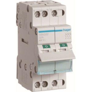 Interrupteurs modulaires -Interrupteur modulaire 3 pôles 32A
