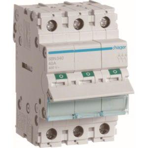 Interrupteurs modulaires -Interrupteur modulaire 3 pôles 40A