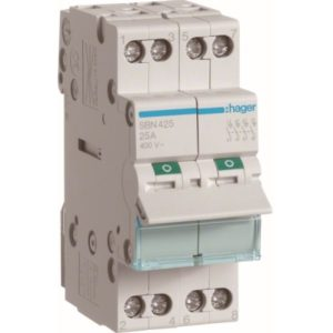 Interrupteurs modulaires -Interrupteur modulaire 4 pôles 25A