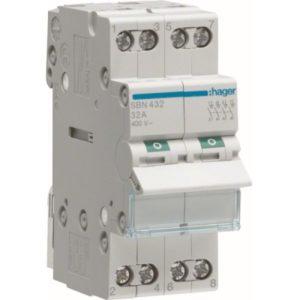 Interrupteurs modulaires -Interrupteur modulaire 4 pôles 32A