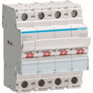 Interrupteurs modulaires -Interrupteur modulaire 4 pôles 40A