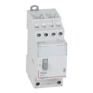 Télérupteurs -CX³ télérupteur - tétrapolaire -16A - 230V - 4 NO - 2 modules - bornes automatiq