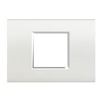 Plaques de recouvrement -LL-Plaque rectang. large 2 mod blanc
