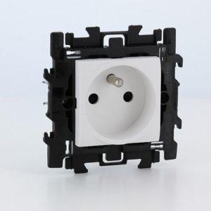 Prises -LL Complet prise 2P+T 16A 250V à griffes  blanc