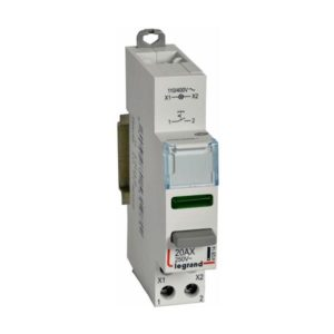 Bouton-Interrupteur poussoir CX3 NO+LED vert 110/400V double fonction-1 module