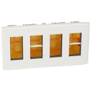 Plaques de recouvrement -Mosaic poste encastré 4x4 modules blanc