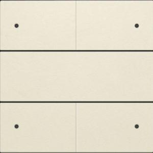 Plaques centrales -Set de finition pour bouton-poussoir quadruple, libre de potentiel, 24 V, avec L