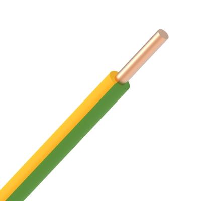 Fil d'installation -VOB H07V-U fil PVC massif 750V Eca 70°C vert/jaune 1,5mm²