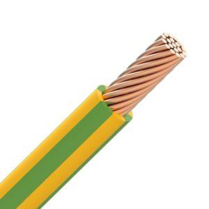 Fil d'installation -VOB H07V-R fil PVC câblé 750V Eca 70°C vert/jaune 10mm²