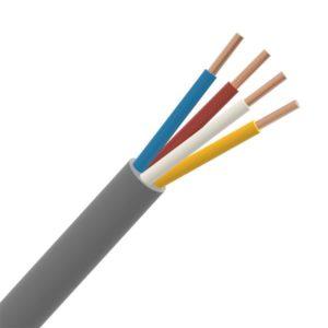 Téléphonie et signalisation -SVV câble signalisation PVC intérieur 150V Cca s3d2a3 gris 4X0,8mm