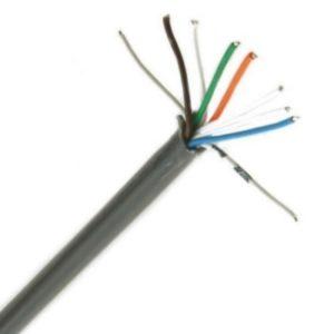 Téléphonie et signalisation -VVT téléphonie PVC torsadé par paire intérieur 150V Cca s3d2a3 8X2X0,6mm