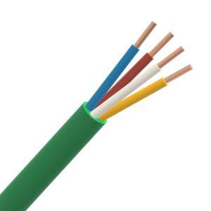 Téléphonie et signalisation -SGG câble signalisation LS0H intérieur 150V Cca s1d2a1 vert 4X0,8mm
