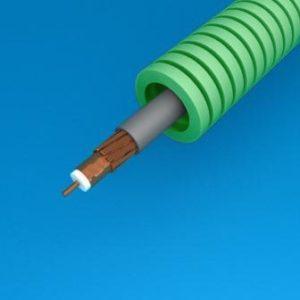 Tube précâblé -Preflex tube précâblé 16mm LS0H vert + coax Telenet TRI6