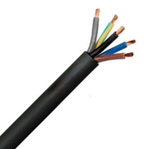Câble d'alimentation souple -H05RR-F CTLB câble souple caoutchouc noir 500V 4G0,75mm²