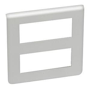 Plaques de recouvrement -Mosaic plaque hor. 2x5 mod. alu