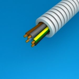 Tube précâblé -Preflex tube précâblé 16mm + VOB 5G1,5mm² rouleau 25m
