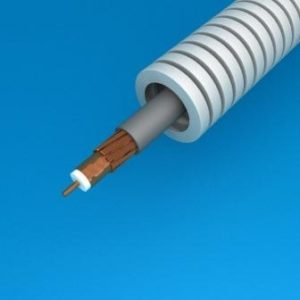 Tube précâblé -Preflex tube précâblé 20mm + coax TRI6 rouleau 50m