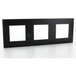 Plaques de recouvrement -Valena Next plaque 3 postes hor/vert entraxe 71mm noir