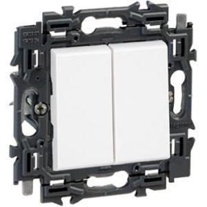 Interrupteurs et bouton-Valena Next double deux directions 10AX appareil complet blanc à griffes