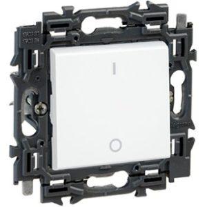 Interrupteurs et bouton-Valena Next inter bipolaire 16AX appareil complet blanc à griffes