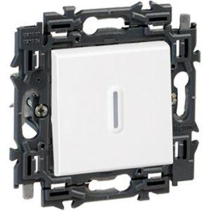 Interrupteurs et bouton-Valena Next poussoir à voyant 6A appareil complet blanc à griffes