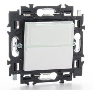 Interrupteurs et bouton-Valena Next poussoir porte-étiquette 6A appareil complet blanc à griffes