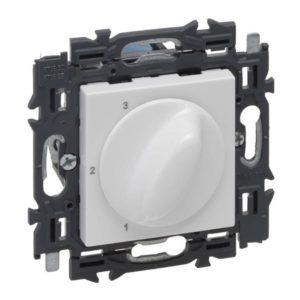 Plaques centrales -Valena Next commande ventilation 3 pos appareil complet blanc à griffes