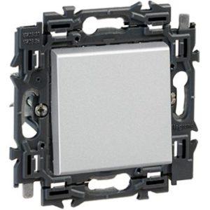 Interrupteurs et bouton-Valena Next poussoir 6A appareil complet alu à griffes