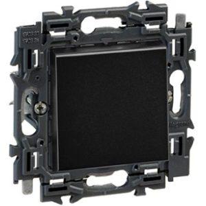 Interrupteurs et bouton-Valena Next deux directions 10AX appareil complet noir à griffes