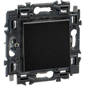 Interrupteurs et bouton-Valena Next poussoir 6A appareil complet noir à griffes