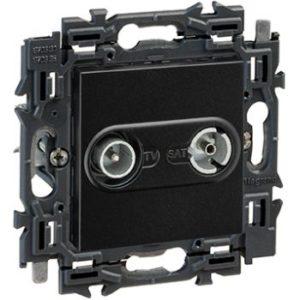 Prises -Valena Next prise TV/FM réseau câblé appareil complet noir à griffes