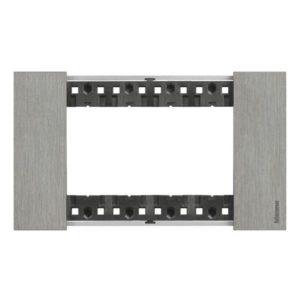 Plaques de recouvrement -Living Now plaque 4 modules acier pour support réf K4704