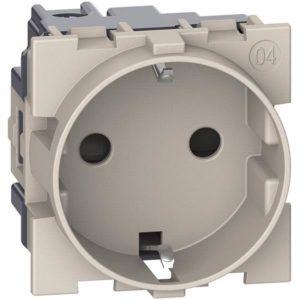 Plaques centrales -LNOW enjo prise schuko sable 2 mod pr prise 2P+T schuko