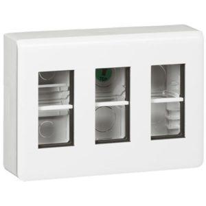 Boîtiers apparent -Mosaic kit sailiie 3x4 modules avec boîte + entretoise + plaque de finition