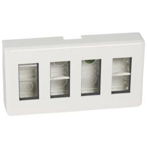 Boîtiers apparent -Mosaic kit saillie 4x4 modules avec boîte + entretoise + plaque de finition