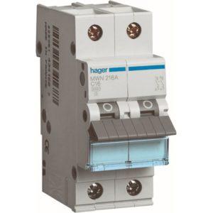 Disjoncteurs -Disjoncteur 3kA - C - 2P - 16A - 2M