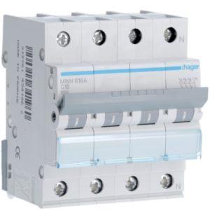 Disjoncteurs -Disjoncteur 3kA - C - 3P+N - 16A - 4M