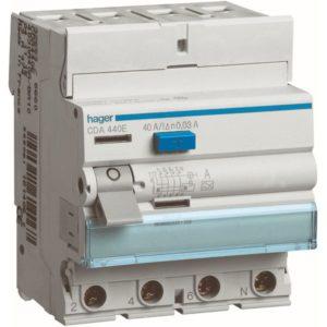 Protection différentielle -Interrupteur différentiel 4P 40A 30mA type A