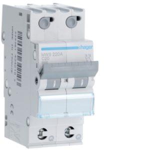 Disjoncteurs -Disjoncteur 3kA - C - 2P - 20A - 2M - qc