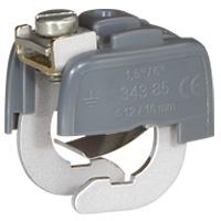 Coupure de terre -Connecteur de liaison équipotentielle pr canalisation diamètre 18 à 22mm