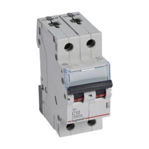 Disjoncteurs -Disjoncteur TX³ 3kA 2P C10 230/400V - 2 modules